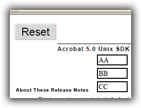 AFormAut : SetResetFormAction メソッド リセット・ボタンを作成