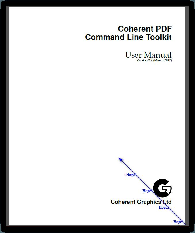 CPDF -bottomright オペレーション