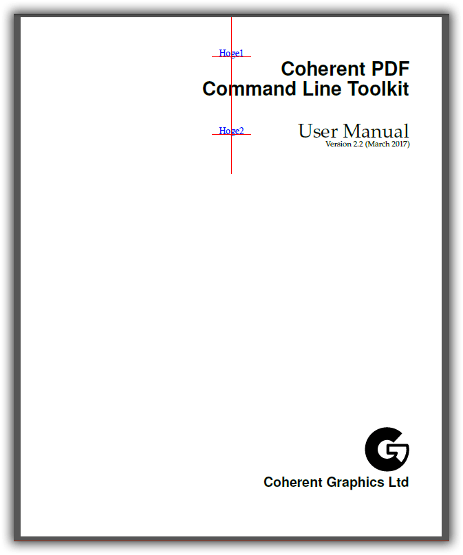CPDF -top オペレーション