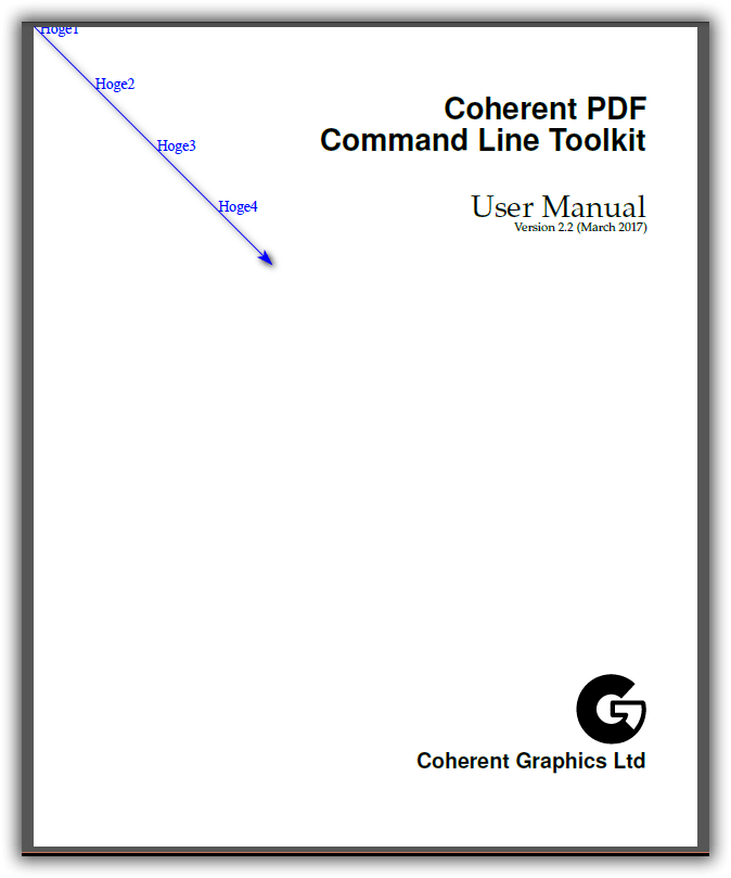 CPDF -topleft オペレーション